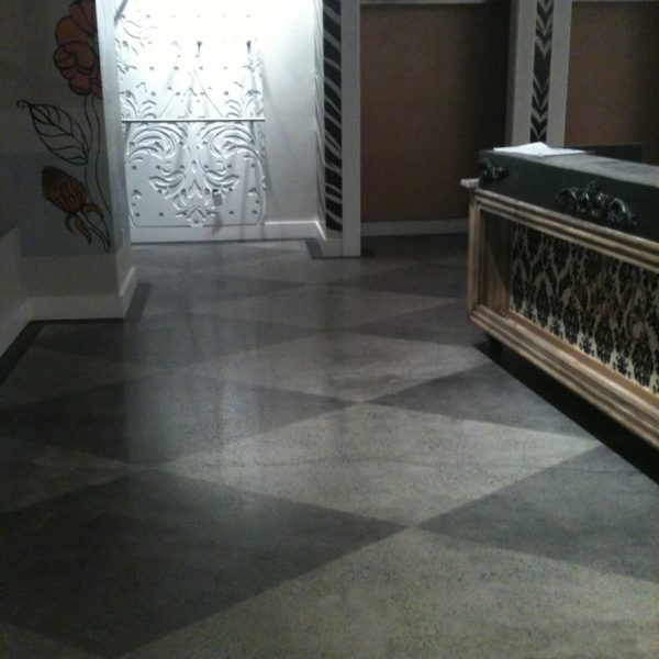 Dyed Patterned Concrete in Rexburg, Idaho | Silver Crest Corp.