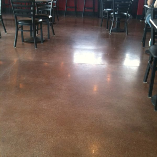 Dyed & Polished Concrete Floors at Nielsen's in Rexburg, Idaho | Silver Crest Corp.