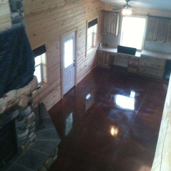 Dyed & Sealed Concrete Floors in Lewisville, Idaho | Silver Crest Corp.