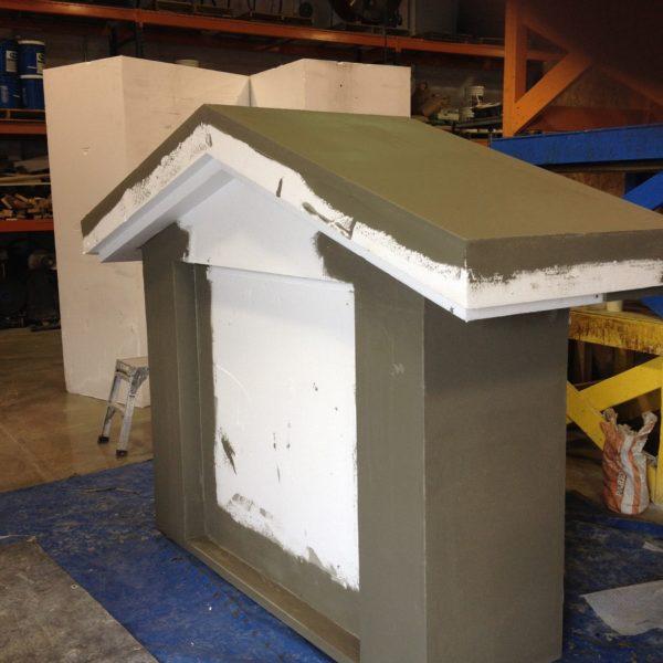 Concrete Foam Sign in Rexburg, Idaho   Silver Crest Corp