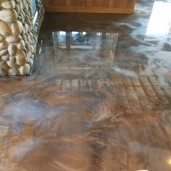 Metallic Epoxy Flooring in Idaho Falls | Silver Crest Corp.
