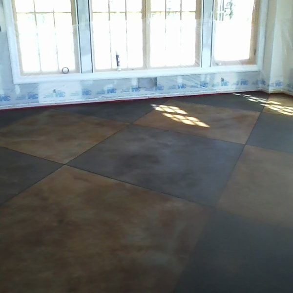 Stained Concrete Pattern in Rexburg, Idaho | Silver Crest Corp.
