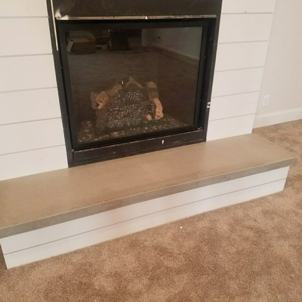 Silver Crest Corp Concrete Fireplace Hearth